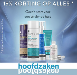 15% korting op alle Paula's Choice proudcten bij Hoofdzaken Ypenburg